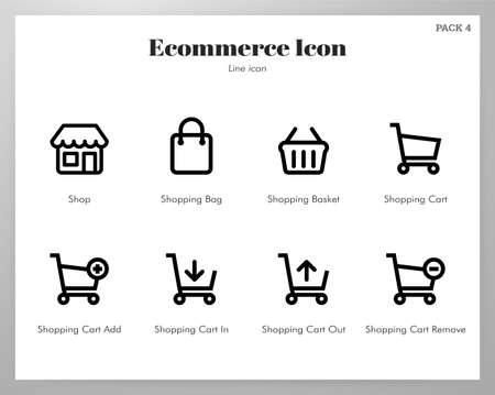 Ecommerce vector illustration in line stroke design