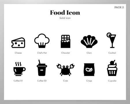 Food vector illustration in solid color design Ilustração