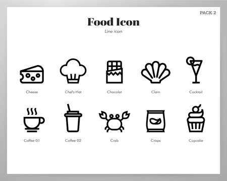 Food vector illustration in line stroke design