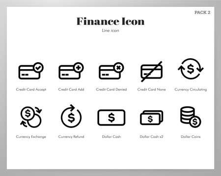 Finance vector illustration in line stroke design