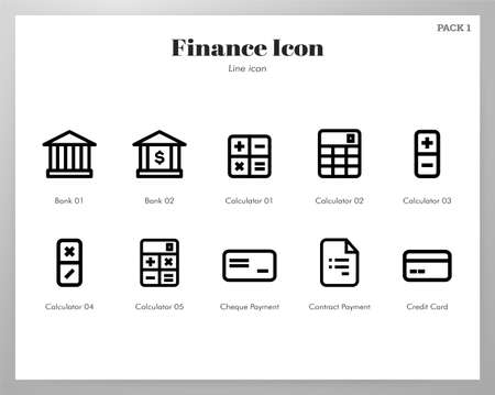 Finance vector illustration in line stroke design