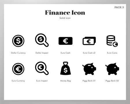 Finance vector illustration in solid color design