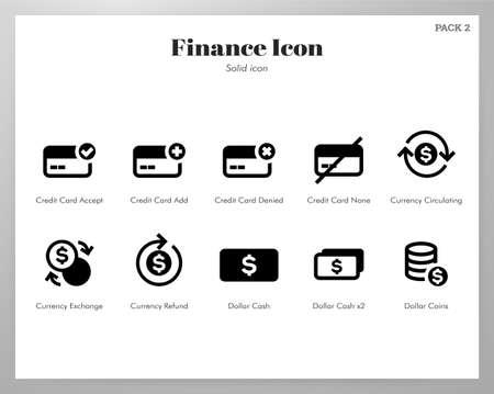 Finance vector illustration in solid color design