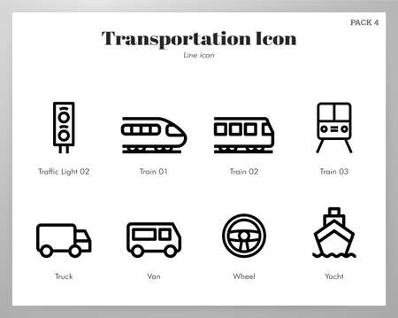 Transportation vector illustration in line stroke design