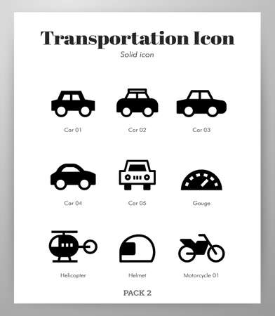 Transportation vector illustration in solid color design