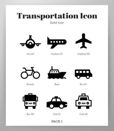 Transportation vector illustration in solid color design
