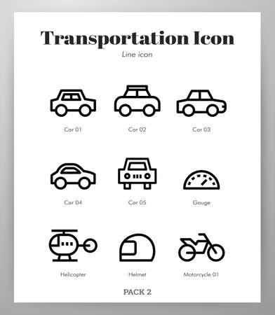 Transportation vector illustration in line stroke design