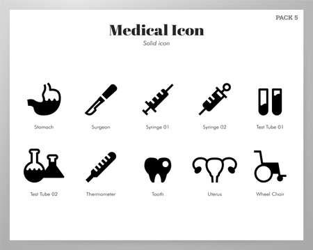 Medical vector illustration in solid color design Illustration