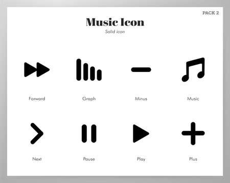 Music vector illustration in solid color design