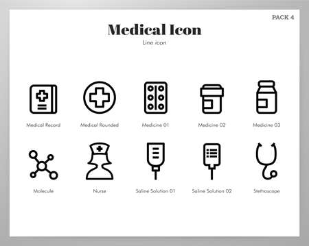 Medical vector illustration in line stroke design