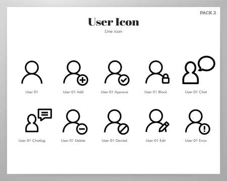 User vector illustration in line stroke design Stock Illustratie