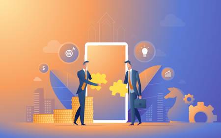 Businessman cooperate vector illustration