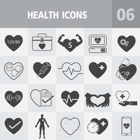 Heart icon,Health thin lines web icon set - Medicine and Health symbols.Vector Can Be Used as Logotype Element or Icon, Illustration Ready for Print or Using with High Quality 向量圖像
