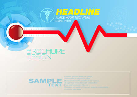 Abstract health and medical background concept template design Vector Illustration,Can use for business data report, presentation, web page, brochure, leaflet, flyer, poster and advertising. Illustration