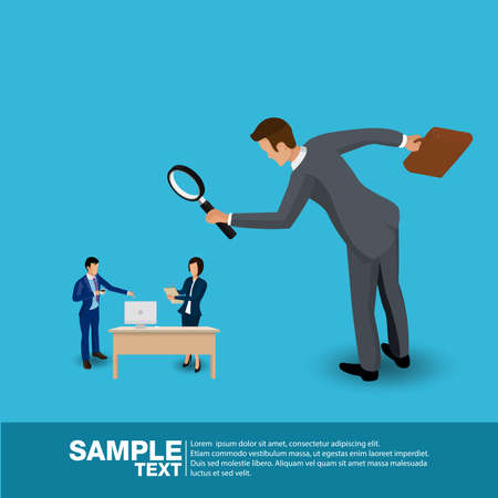 Future Business Leader. Flat Isometric People Executive Manager Vector Investor trade. Illustration