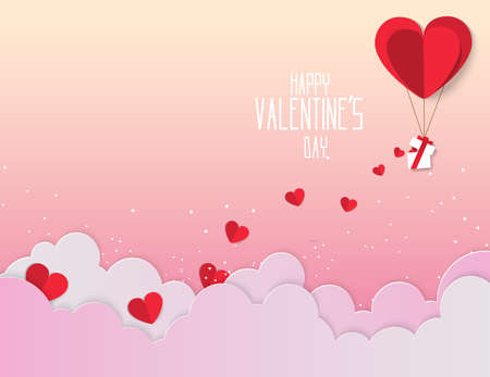 Valentine day ,Concept sweetheart beside the bicycle and tree on the world . Paper art style vector illustration.