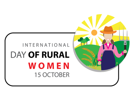 International Day of rural woman on October 15 background.