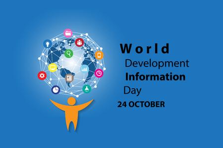 Journée d'information sur le développement dans le monde, le 24 octobre Banque d'images - 94992223