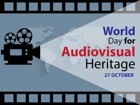 World Day for Audiovisual Heritage on October 27 Background Illustration