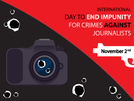 International Day To End Impunity For Crimes Against Journalists on November 2 Background Illusztráció