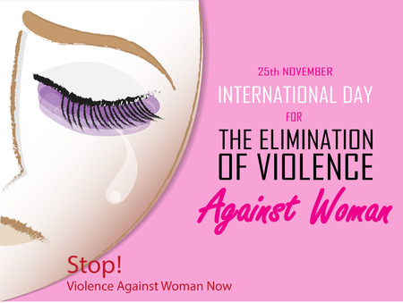 International day for the Elimination of Violence Against Woman on November 25 background. 일러스트