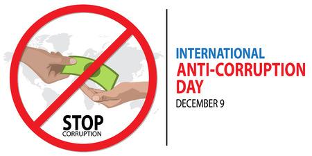 International Anti-Corruption Day on December 9 Background.