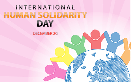 International Human Solidarity Day on December 20 Background Foto de archivo - 95133861