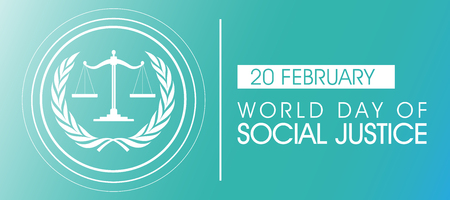 World Day of Social Justice on February Background