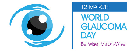 World Glaucoma Day on March Background