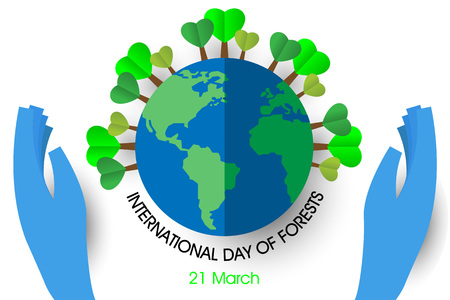 International day of forests illustration.