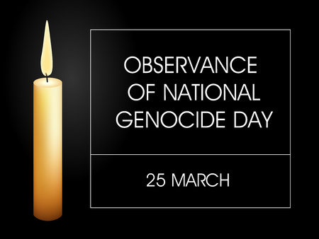 Observance of national genocide day.