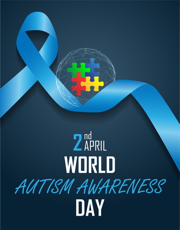 World autism awareness day vector illustration Illustration