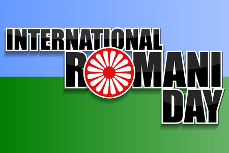 International Romani day vector illustration