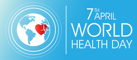 World health day on April 7 banner design