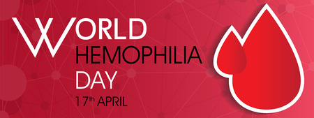 world hemophilia day with blood drops