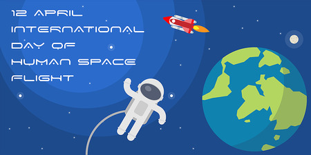International Day of Human Space Flight poster