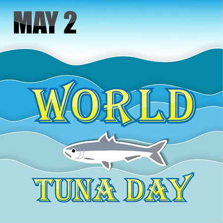 World Tuna Day with tuna vector illustration.