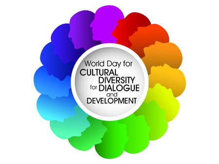 World Day for Cultural Diversity for Dialogue and Development background Illusztráció
