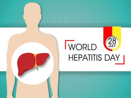 Hepatitis Day Background Illusztráció