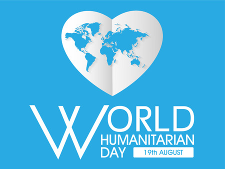 World Humanitarian Day poster template