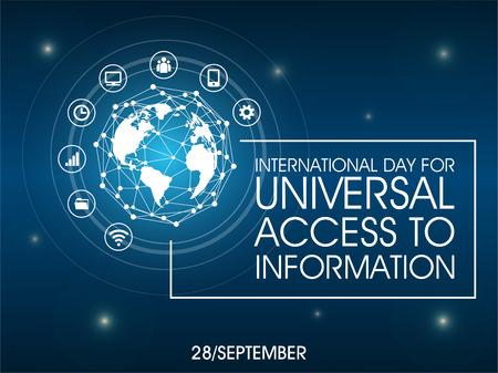 Journée internationale de l & # 39; accès universel à l & # 39; illustration vectorielle