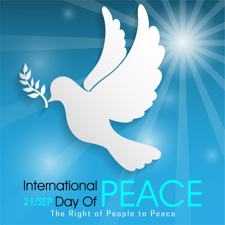 International Day of Peace on 21 Sep Illusztráció