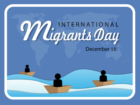 International Migrants Day 18 December Illusztráció