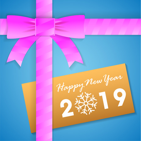 Happy new year Gift box Card Background