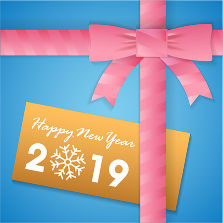 Happy new year Gift box Card