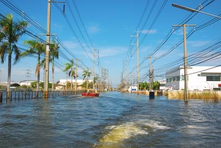 water flood in industrial estate