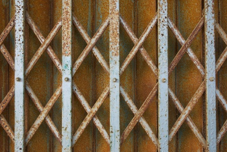 grunge elastic metal fence door  photo
