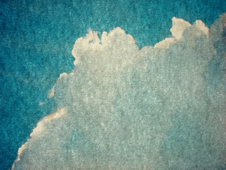 seem: ink smear on old paper seem like a cloud  Stock Photo