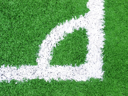 artificial turf on soccer football field  photo