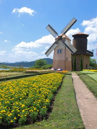 windmill in garden